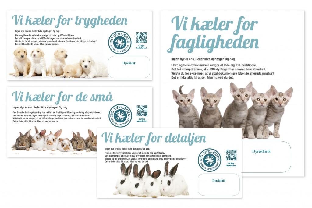 Layout til annonceserie til dyrlægeforening